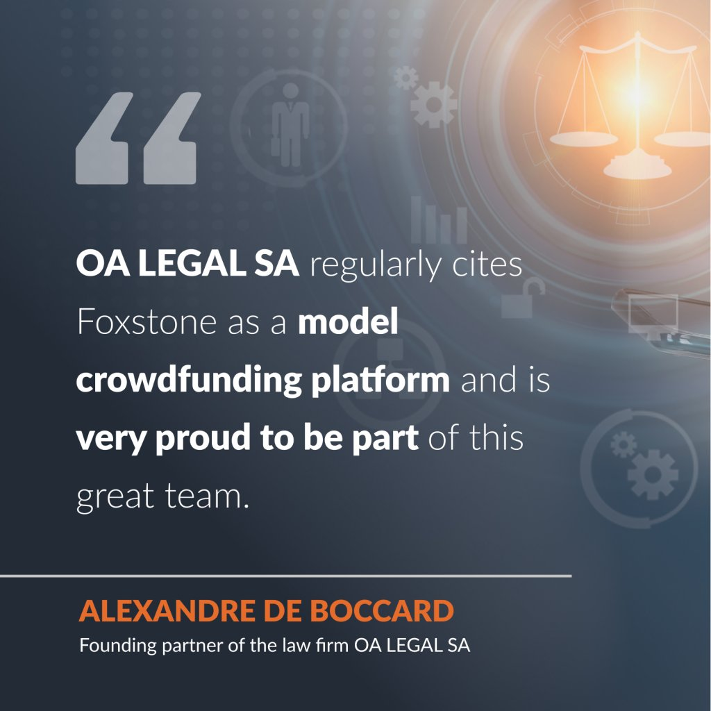 Interview with Alexandre de Boccard, founding partner of the law firm OA Legal SA
