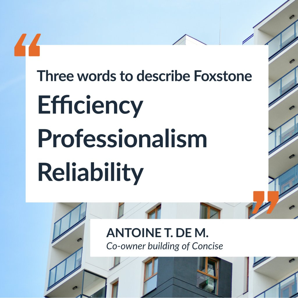 Testimony of Mr. Antoine T. de M, co-owner of the Concise building