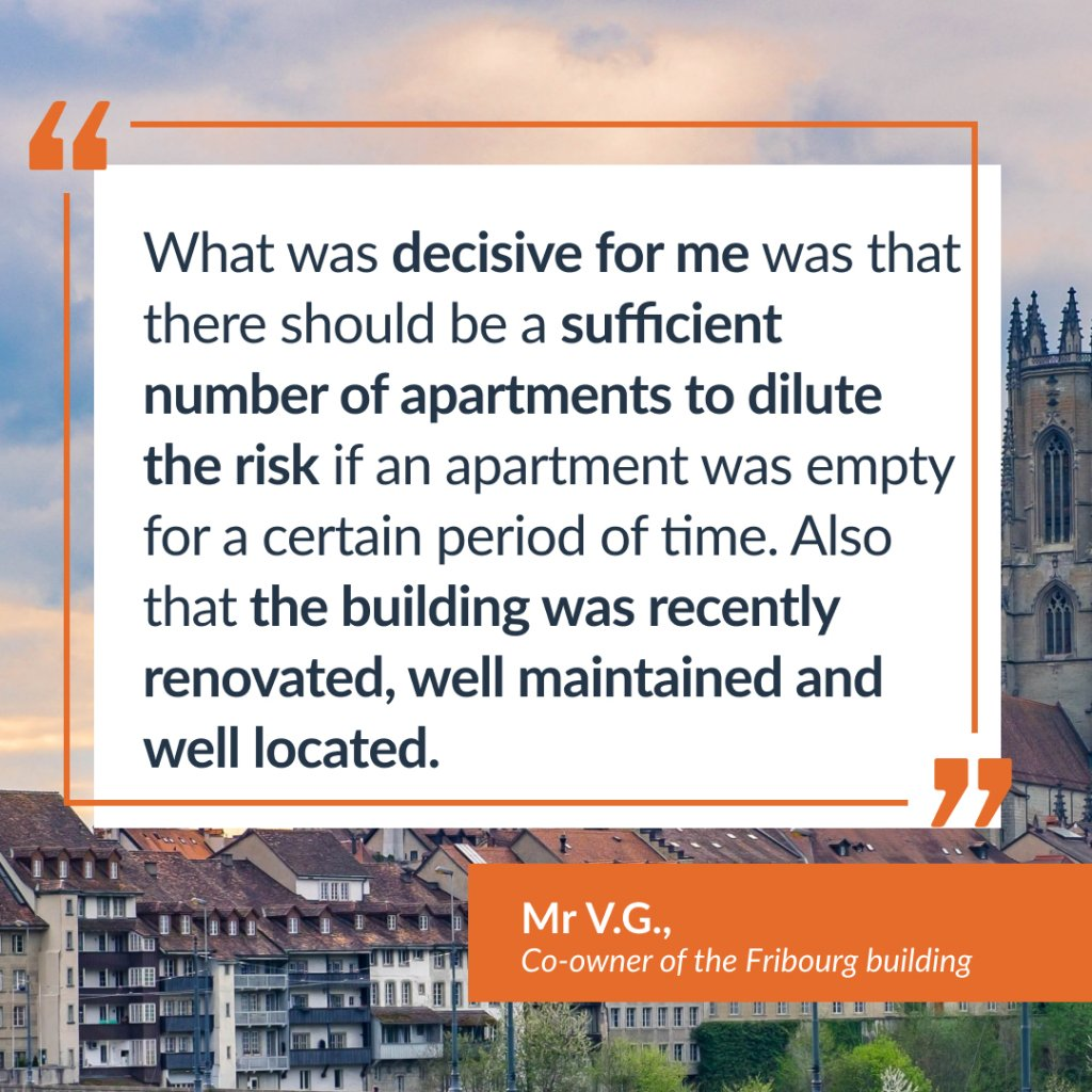 Testimony of Mr. V.G., co-owner of the Fribourg building