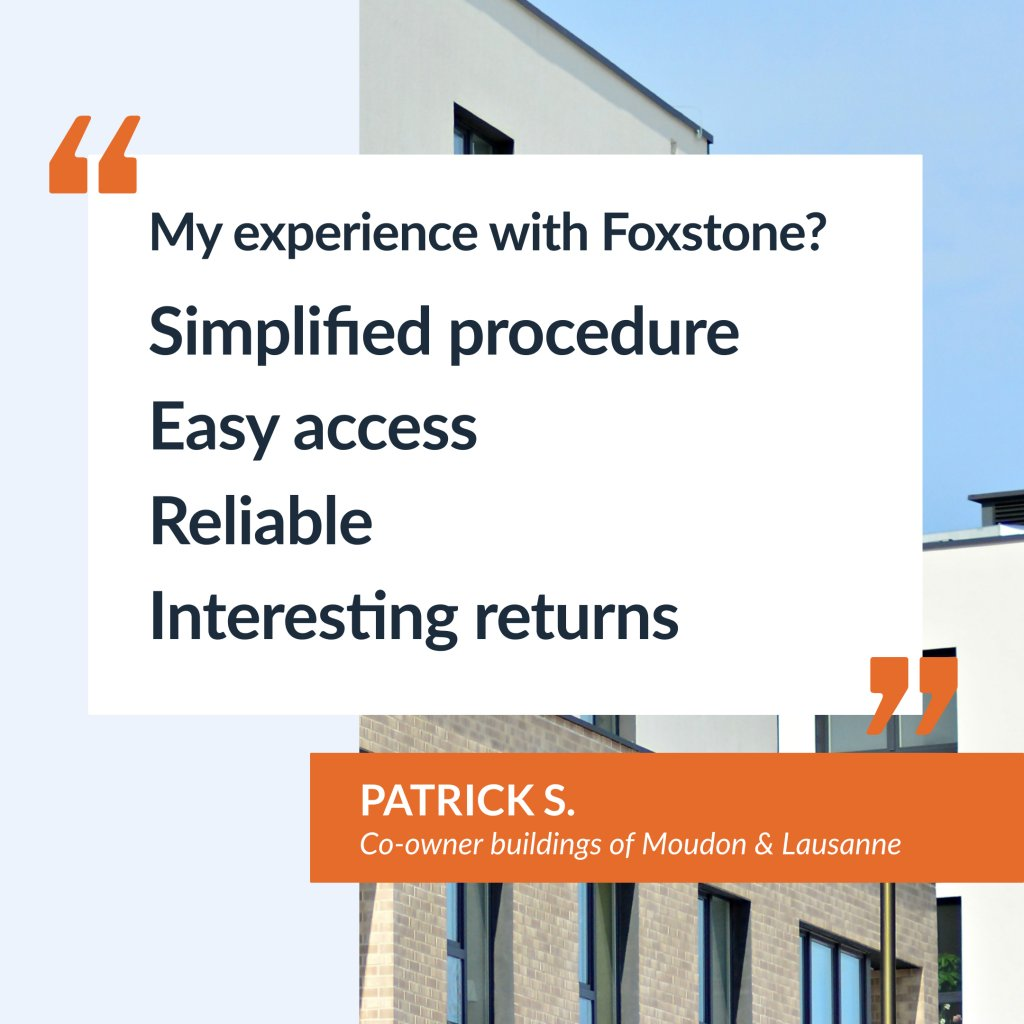 Testimony of Patrick S, co-owner of the buildings in Moudon and Lausanne.