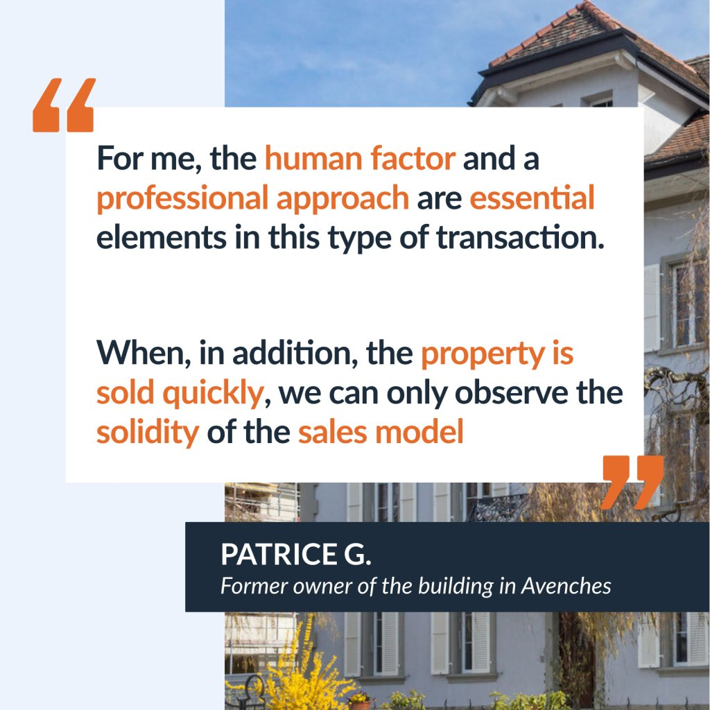 Interview with Patrice G. former owner of the building located in Avenches