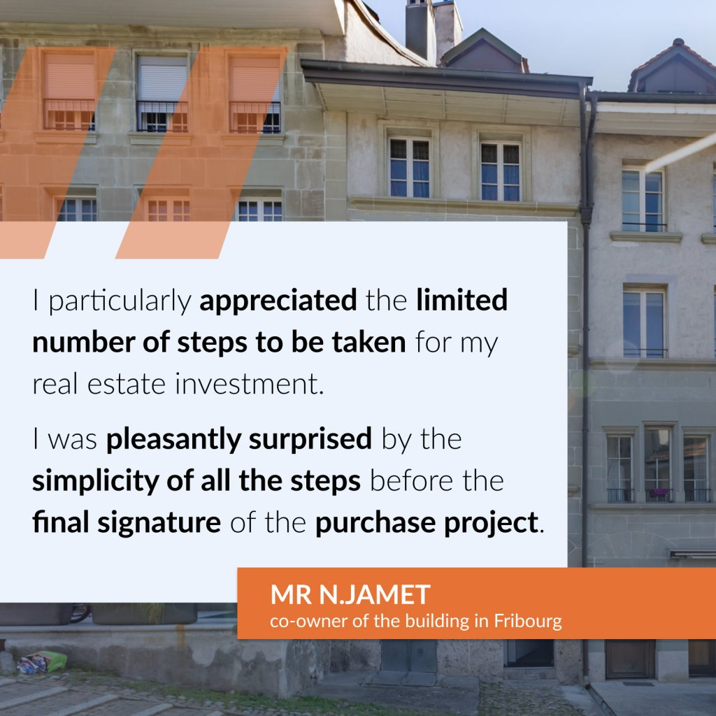 Testimony of Mr. Nicolas Jamet, co-owner of the building in Fribourg