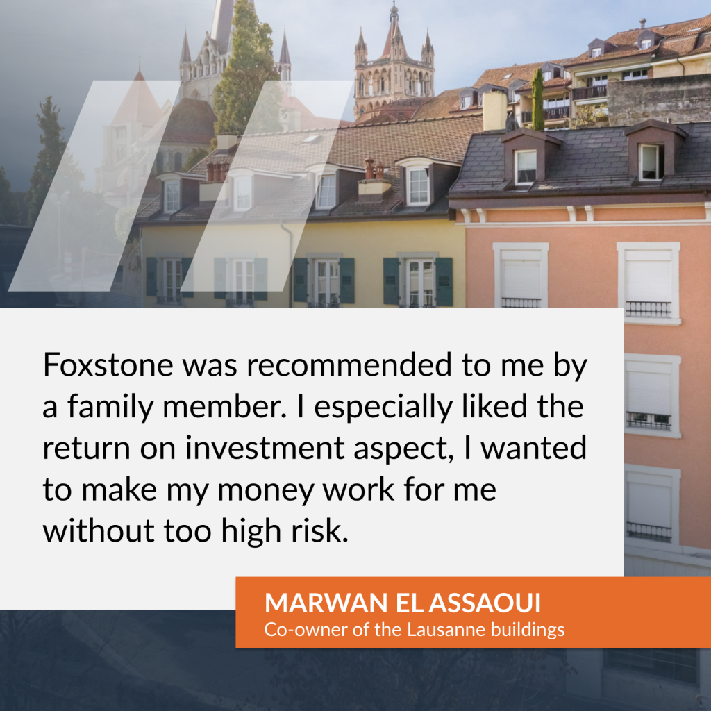 Testimony of Mr. Marwan El Assaoui, co-owner of the Lausanne buildings
